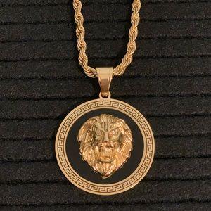 Other - Lion Gold Designer Men's Necklace 18KPG